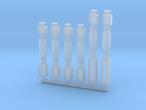 1:84 HMS Victory Ballusters for main companionway in Smoothest Fine Detail Plastic
