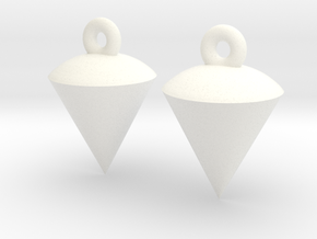 Plumb / Lot Earrings in White Processed Versatile Plastic