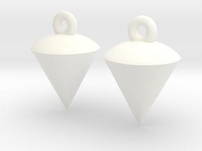Plumb / Lot Earrings in White Processed Versatile Plastic