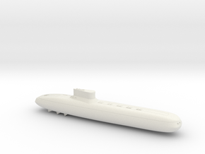 3788 Scale Frax Submarine Missile Cruiser MGL in White Strong & Flexible
