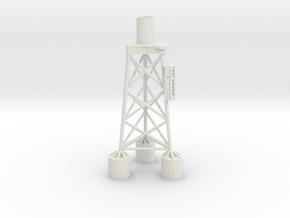 Suction bucket jacket in White Natural Versatile Plastic