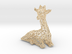 Giraffe wire frame in 14K Yellow Gold: Extra Small