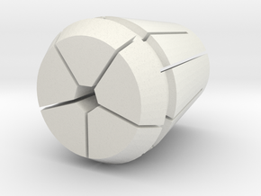Collet-w-pen.21875 in White Natural Versatile Plastic