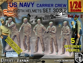 1/24 USN Carrier Deck Crew Set303-2 in White Natural Versatile Plastic