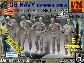 1/24 USN Carrier Deck Crew Set303-3 in White Natural Versatile Plastic