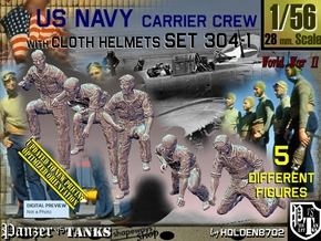 1/56 USN Carrier Deck Crew Set304-1 in Smooth Fine Detail Plastic