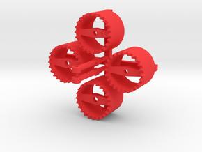 Zwillingsreifen Adapter in Red Processed Versatile Plastic