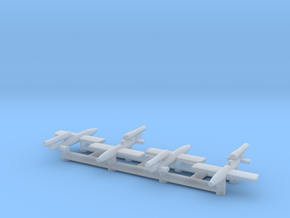 (1:700) (x4) Fieseler Fi 103R (Reichenberg) in Smooth Fine Detail Plastic