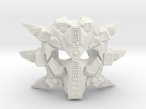 Custom Edition: Mask Of Ultimate Power - Gen Two - in White Strong & Flexible