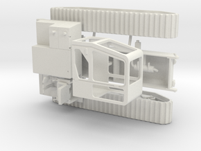 1/50th Morooka Tracked Vehicle Carrier Platform in White Natural Versatile Plastic