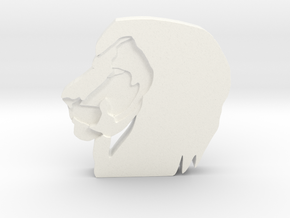 Lion Head in White Strong & Flexible Polished