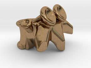 Vertabrae Bead in Natural Brass: Medium