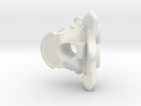 Vertabrae Bead in White Natural Versatile Plastic: Large