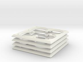 Quatrefoil For 28mm MDF War-game Buildings in White Natural Versatile Plastic