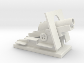 Mortier de 280 mm Schneider 1/100 ww1 artillery  in White Natural Versatile Plastic