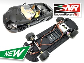 3D Chassis - Carrera Porsche Carrera GT (Combo)  in Black Strong & Flexible
