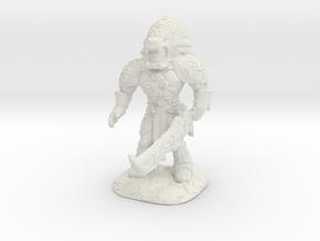 Xochatl Warrior-War Of The Ravaged Board Game Mini in White Natural Versatile Plastic: Small
