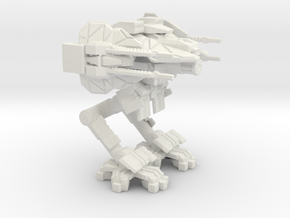 Two Legged Reverse Joint Quad Railgun Mech in White Natural Versatile Plastic