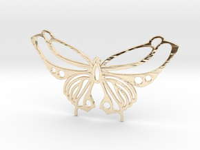 Butterfly pendant in 14K Yellow Gold