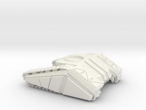 DF 1-72 TANK BASE MED Full Sized in White Natural Versatile Plastic