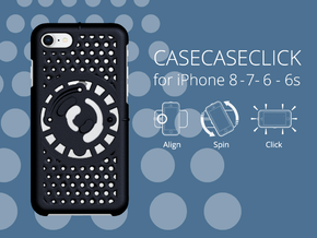 for iPhone 8-7-6-6s : smooth : CASECASE CLICK in Black Natural Versatile Plastic