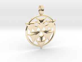 CRYSTAL HORIZONS in 14k Gold Plated Brass