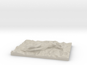 Sleeping Beauty Lowpoly in Natural Sandstone: Extra Small