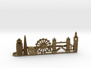 Tie Clip London in Polished Bronze