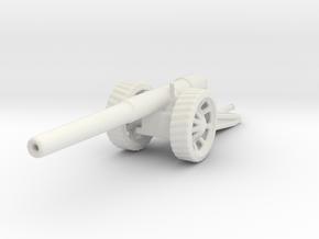 BL 6 inch Gun Mk 7 1/56 ww1 artillery in White Natural Versatile Plastic