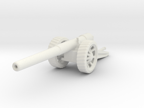 BL 6 inch Gun Mk 7 1/72 ww1 artillery in White Natural Versatile Plastic