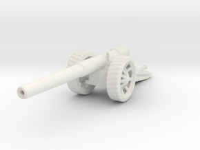 BL 6 inch Gun Mk 7 1/100 ww1 artillery in White Natural Versatile Plastic