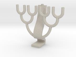 Binary Tree Menorah in Natural Sandstone