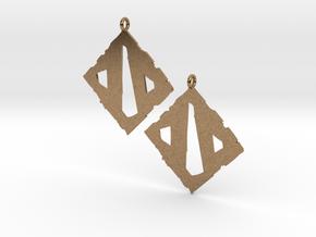 Dota II Earrings in Natural Brass