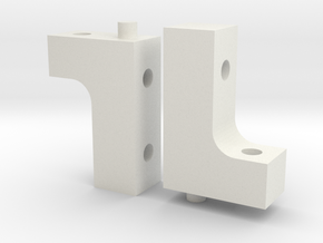 XRay XB4 Servo Mount in White Natural Versatile Plastic