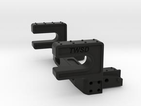Trail Honcho Rear Body Mount in Black Premium Versatile Plastic