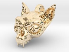 Bat Skull in 14K Yellow Gold