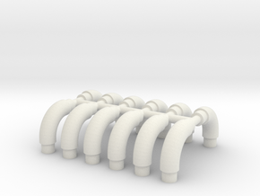 Pipe bends 5 mm in White Natural Versatile Plastic
