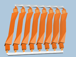 8 Orange Super-Short struts in Orange Processed Versatile Plastic