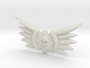 Explorator Pilot Badge 40k 10cm in White Natural Versatile Plastic