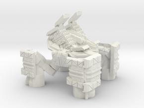 Quad Mech Heavy Missile Carrier in White Natural Versatile Plastic
