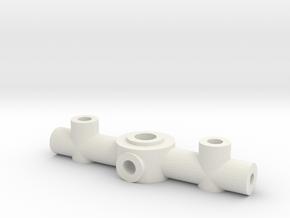 Adjustable Prop Hub 3mm main shaft 1mm blades 2mm  in White Natural Versatile Plastic