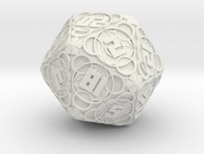Thaumaturgy - D20 in White Natural Versatile Plastic