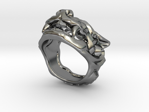 "Fu Dog (Komainu) ""a"" Ring in Polished Silver: 7 / 54"