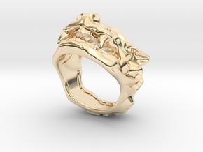 "Fu Dog (Komainu) ""a"" Ring in 14k Gold Plated Brass: 7 / 54"