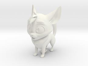 Odd Dog Maquette in White Natural Versatile Plastic