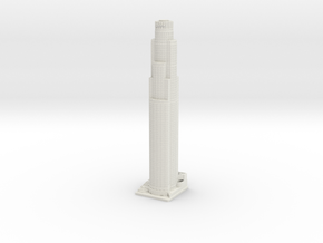 US Bank Tower (1:2000) in White Natural Versatile Plastic