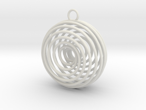 Vortex Pendant in White Natural Versatile Plastic