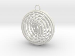 Vortex Pendant in White Premium Versatile Plastic