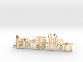 Tie Clip Barcelona in 14k Gold Plated Brass