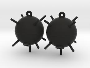 Sea Mine Earrings in Black Premium Strong & Flexible